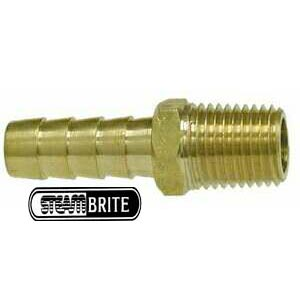 1/2in Mip X 1/2in Barbed Brass Fitting 32-017 Straight 32017