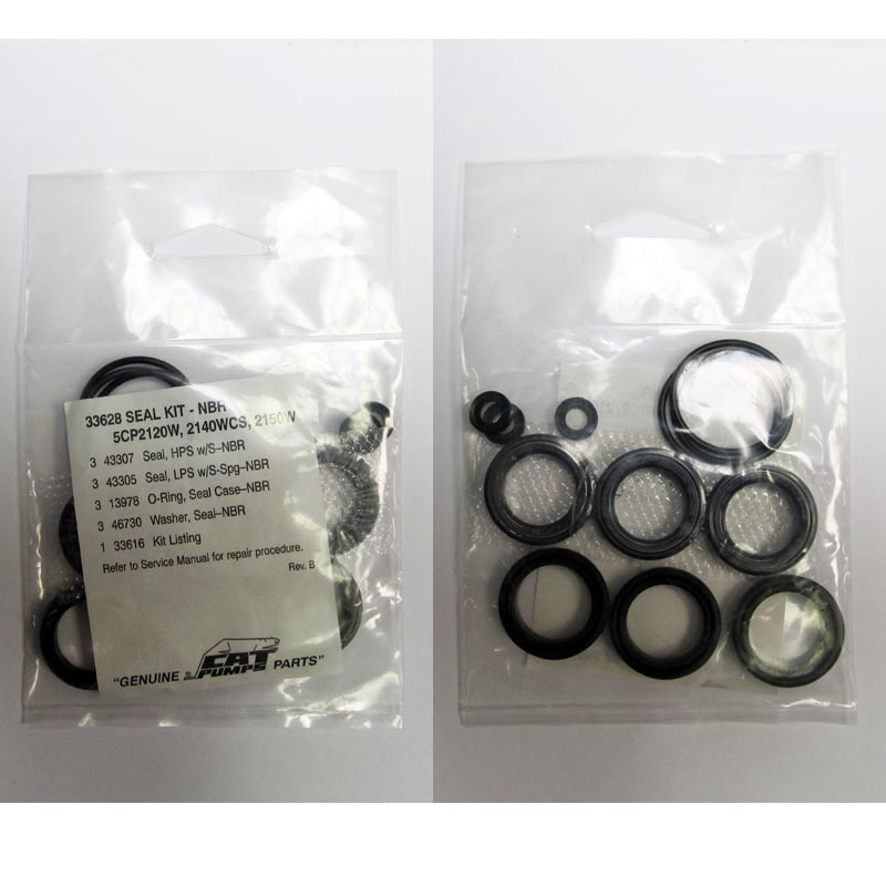 Cat Pumps: Seal kit 33628 for 5CP2120W / 5CP2140WCS / 2150W