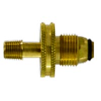 Little Giant LP Propane Bottle POL Adapter Large Brass Nut X 1/4 in pipe 34073 (special order)