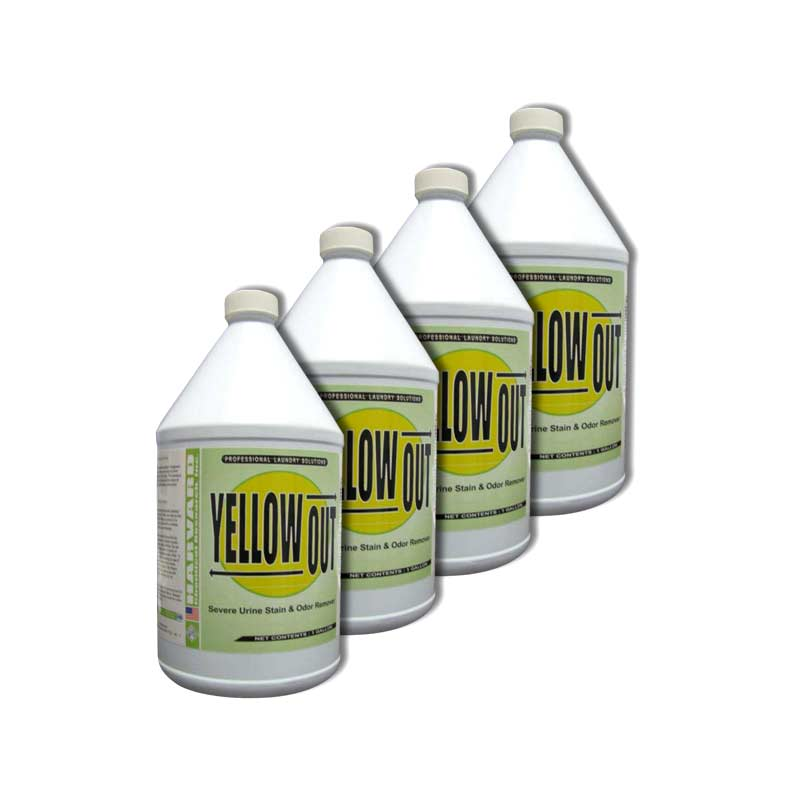 Harvard Chemical 3503-4 Yellow Out Urine Stain Remover 4-1 Gallon Case - Rug Fringe Brightener