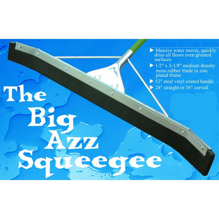 "Floor Squeegee 36"" Curved with Handle"
