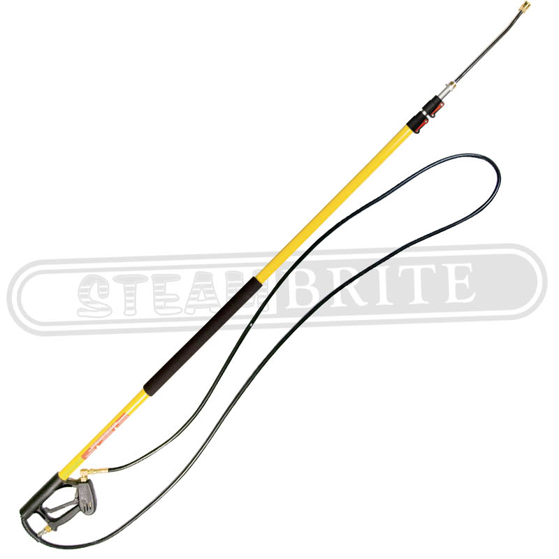 BE Pressure 85.206.018L 18Ft Telescoping Standard Fiberglass Spray Lance 4000psi 8.0GPM 200F - ARTEL-18 Pole