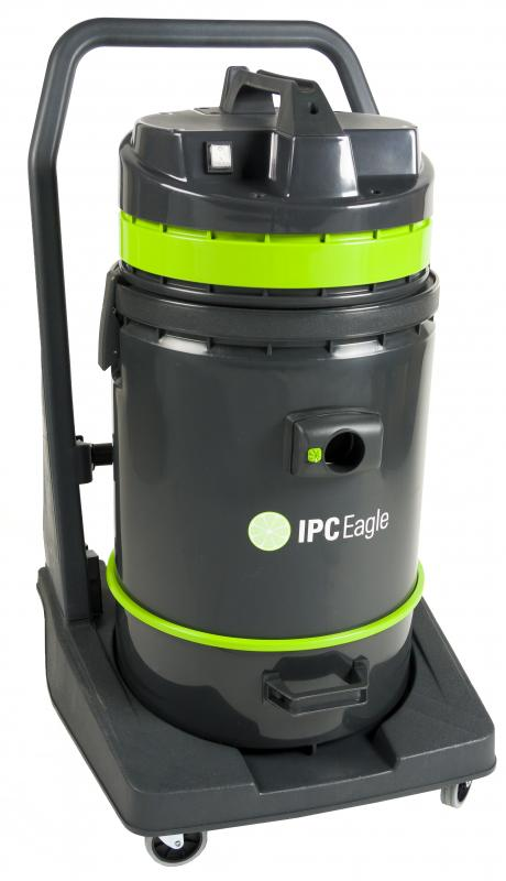 IPC Eagle S6415PLT-H Dry, HEPA Critical Filtration, Tip Vac, 19 Gal., Poly, 1 Motor. Includes 1.5 in. hose, 3 piece wand, bristle floor tool, dusting tool, crevice tool.