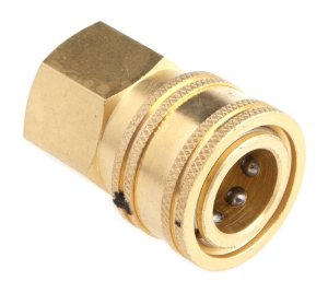 "Pressure Washer QD 3/8"" Fip X 3/8"" Female Socket Coupler Brass [20161114]"