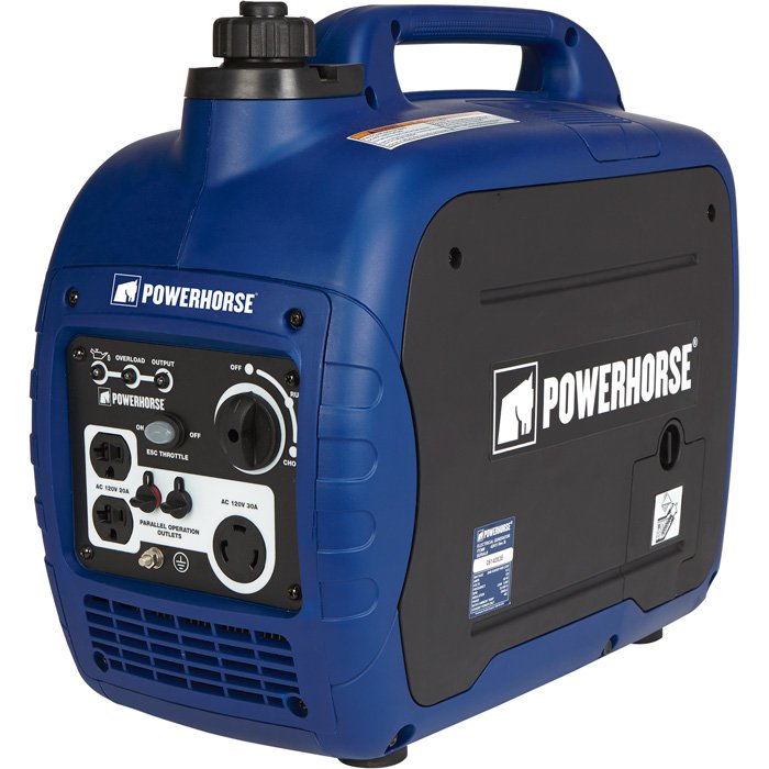 FREE SHIPPING Powerhorse 42411 Portable Inverter Generator 2000 Surge Watts