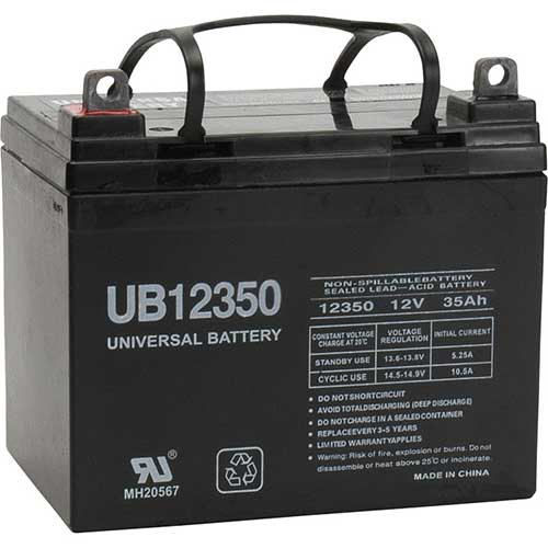 NorthStar UPG Sealed Lead-Acid Battery — AGM-type, 12V, 35 Amps, Model# 46042 #45716