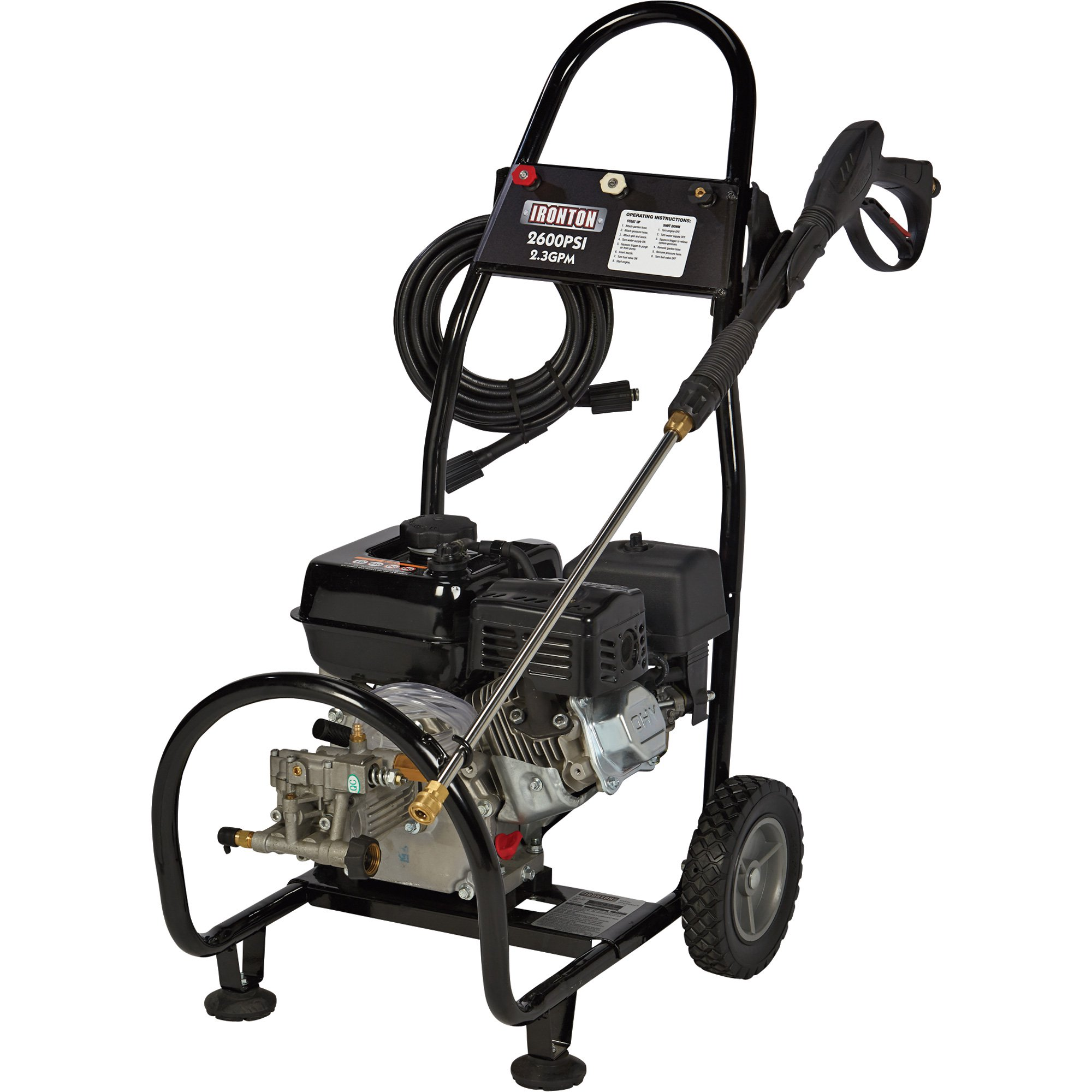 Ironton Gas Cold Water Pressure Washer - 2,600 PSI, 2.3 GPM - 87034 - 45810
