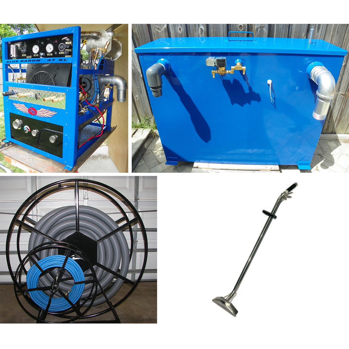 -Blue Baron 47XL 32.5 hp 4LR Blower Truckmount Belt Drive 300 ft reel, 200 ft hose set, Wand Starter Package