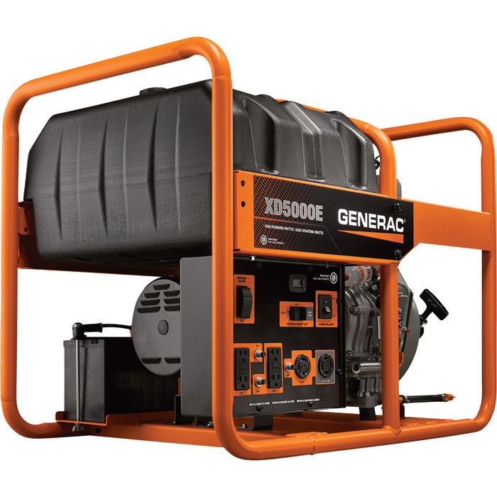 Generac 6864 Portable Diesel Generator 5500 Watt Surge 5000 Run 435cc Electric Start 48974 FREE Shipping