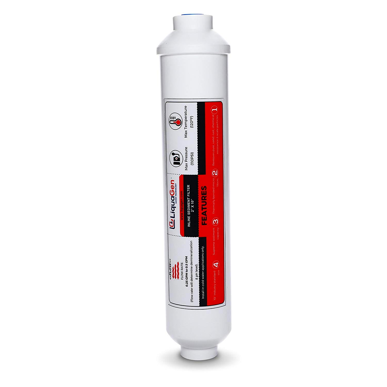 5 Micron In Line 1/4in Fip Water Filter 10in X 2in  20180810