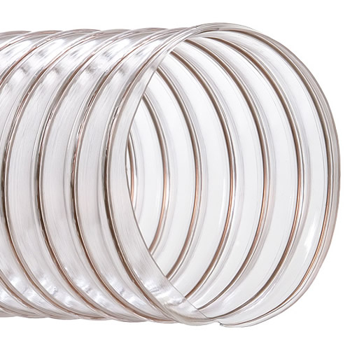 Abatement Technologies Clear heavy duty PVC flex duct wire reinforced 10inch dia. x 12 ft (1 per case) H203010-12