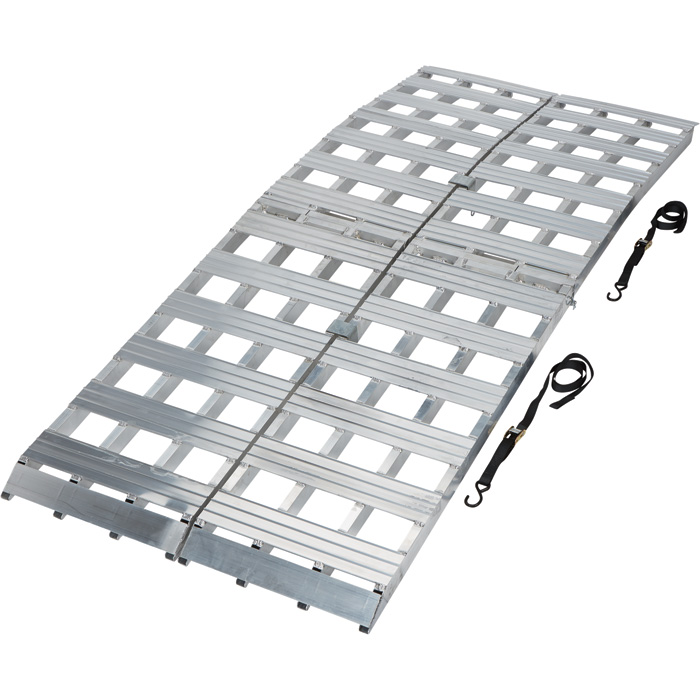 Ultra-Tow Bi-Fold Arched Aluminum Loading Ramp Set — 3000-Lb. Capacity, 8ft.L X 19 in wide 53187