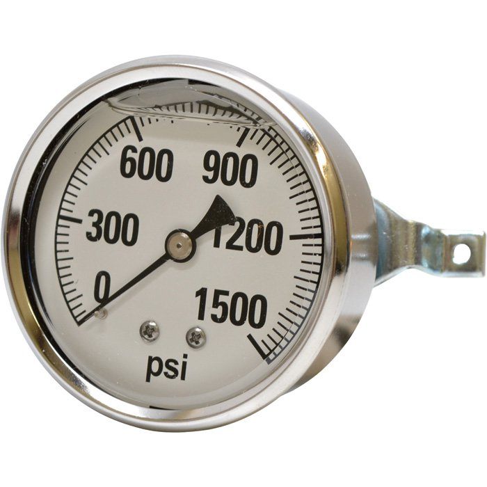Steambrite: Gauge 1500 psi Panel Mount asa 53615  [2241 GXB 1500]