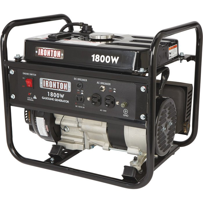 Ironton 57599 Portable Generator 98cc 1800 Surge Watts, 1400 Rated Watts, Model# DG1800