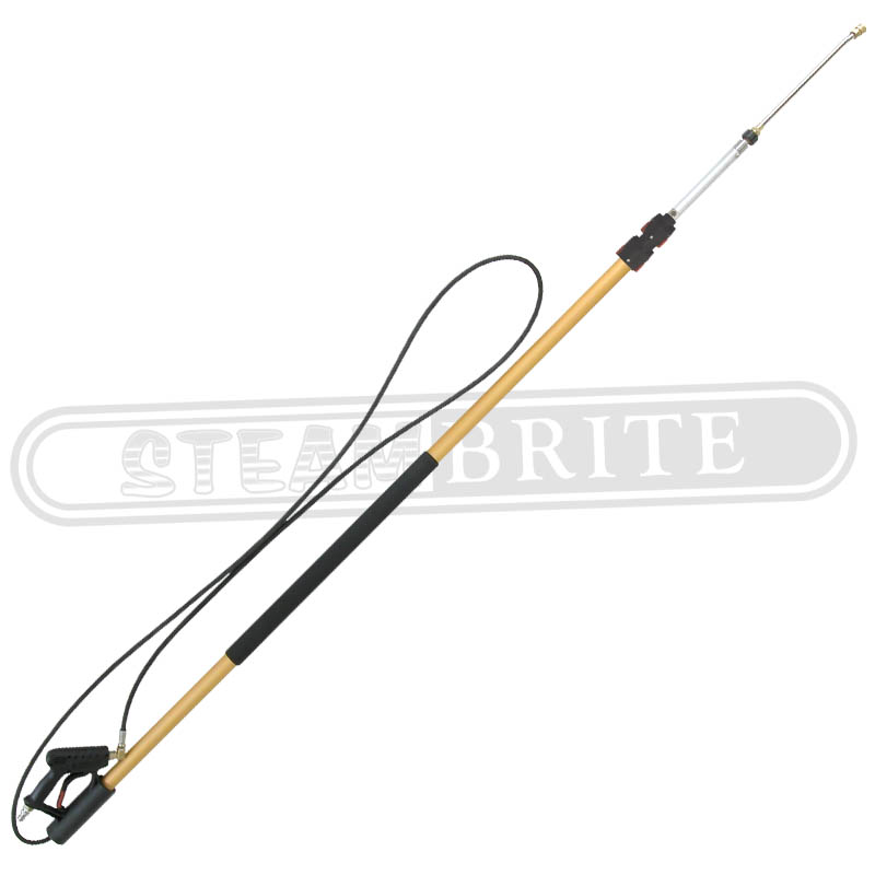 BE Pressure 85.205.018ALSHD: 18Ft Telescoping Aluminum Super Duty Spray Lance 4000psi 8.0GPM 200F