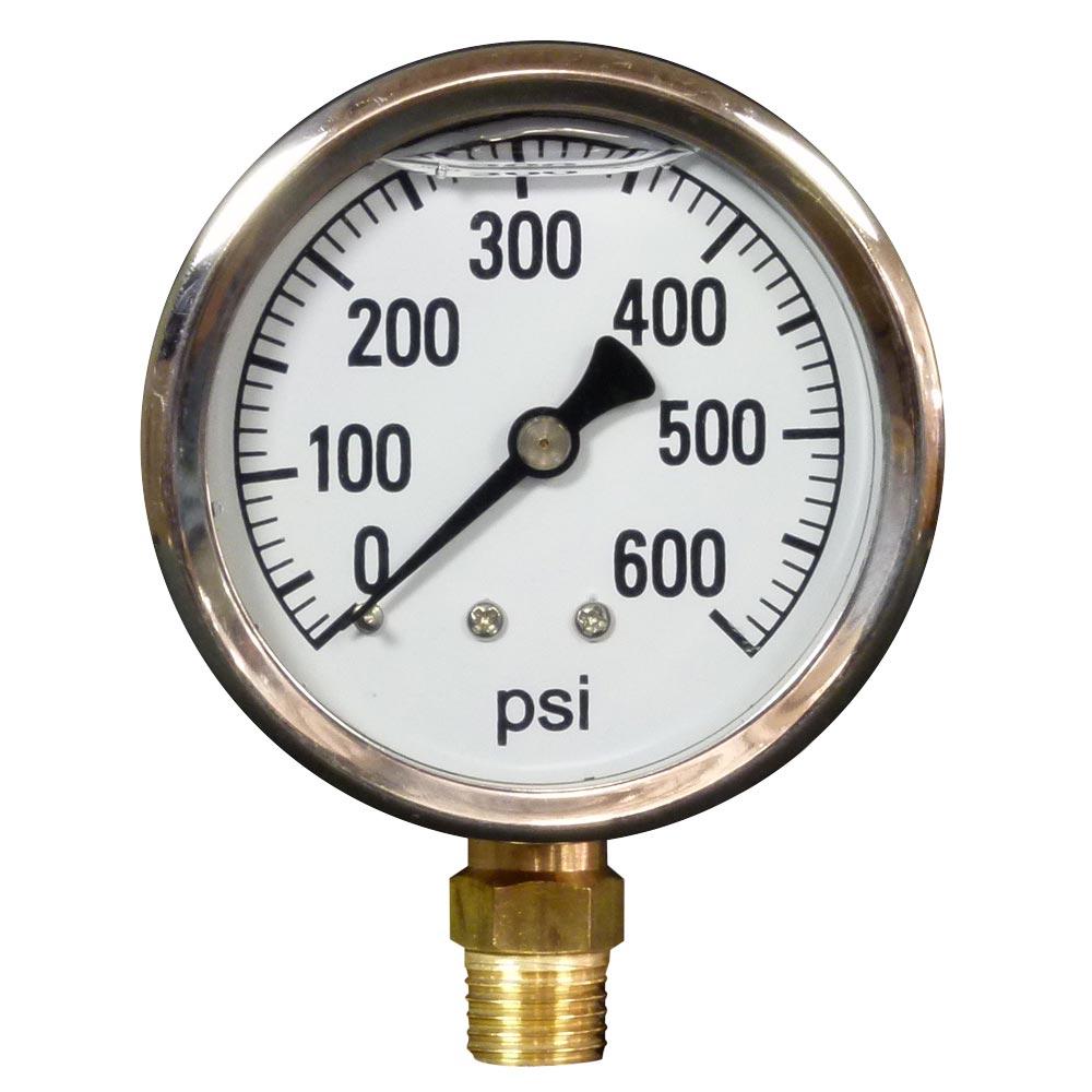 Pressure Gauge 600 Psi S.S, Bottom Mount [8.710-277.0]  348232  ARO-600  LFG-B-600  Cat 6091
