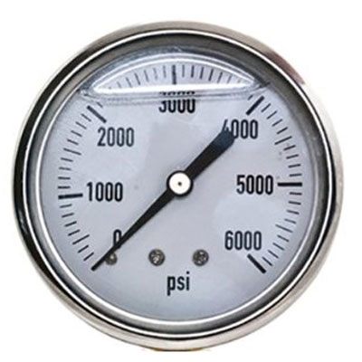 Gauge, 0-6000 Psi, W back mount 1/4 in connection  8.710-262.0