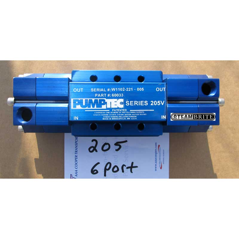 Pumptec 205V Pump Head Only (6-Ports) 60033