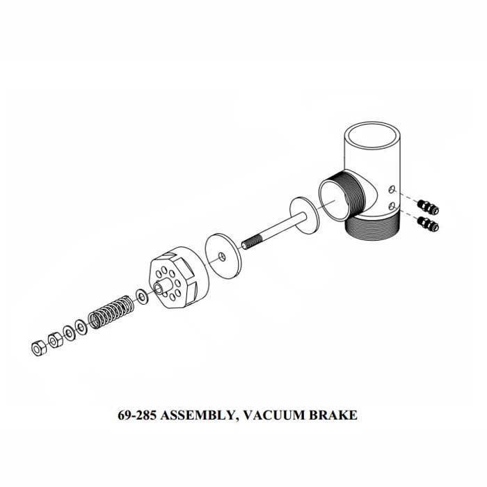 Sapphire Scientific 69-285S Truckmount Vacuum Relief Valve Air Brake 2.5 inches Pipe - 86180600