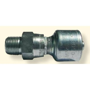 Hydraulic Hose Crimp Fitting 3/8in Hose X 3/8in Mpt Swivel 8.724-028.0 6G-6MPX [7100-1029]