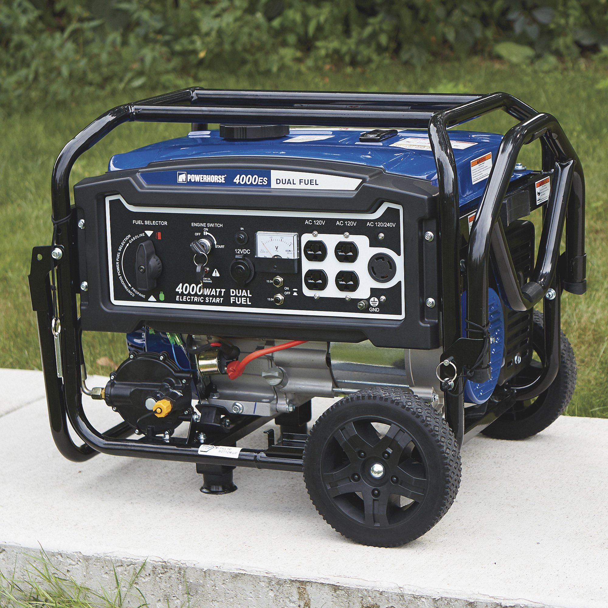 Powerhorse 750134 Dual Fuel Generator with Electric Start - 4,000 Surge Watts, 3,100 Rated Watts