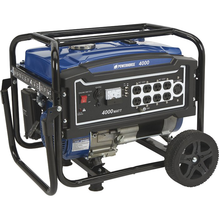 Powerhorse 750138 Portable Generator 4000 Surge Watts, 3100 Rated Watts, EPA Compliant 212cc Pull Start