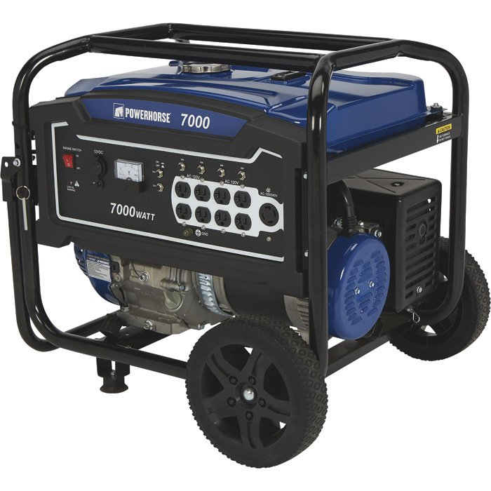 Powerhorse 750140 Portable Generator 420cc 7000 Surge Watts, 5500 Rated Watts, EPA Compliant, Pull Start