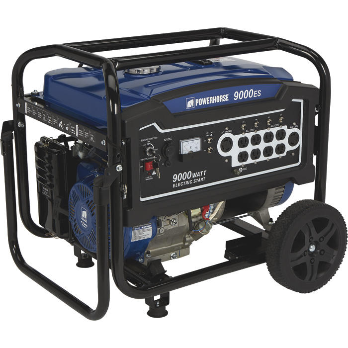 Powerhorse 750142 Portable Generator 9000 Surge 7250 Run Watts Electric Start 420cc (no battery)