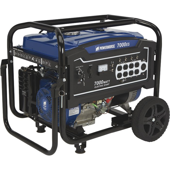 Powerhorse 750141 Portable Generator 420cc 7000 Surge Watts, 5500 Rated Watts, Electric Start