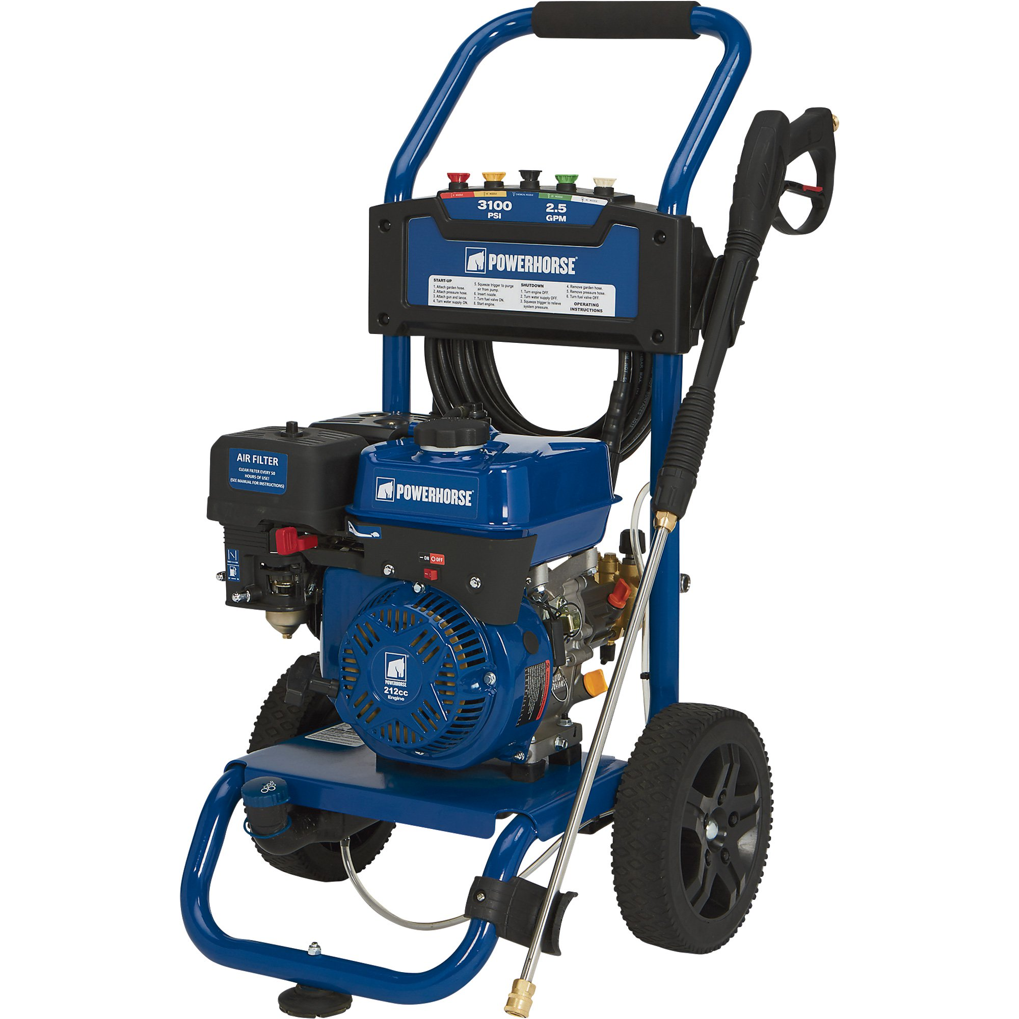 Powerhorse 750143 Gas Cold Water Pressure Washer - 3100 PSI, 2.5 GPM, EPA and CARB Compliant - FREE SHIPPING