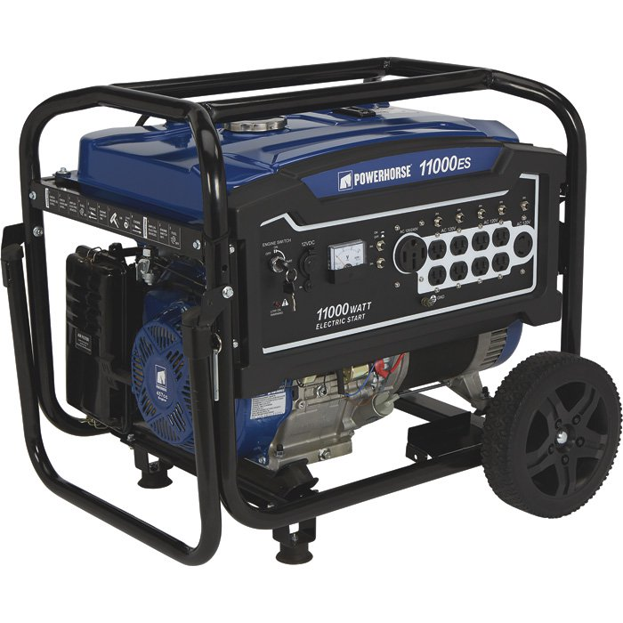 Powerhorse 750144 Portable Generator 11,000 Surge Watts, 8400 Rated Watts, Electric Start