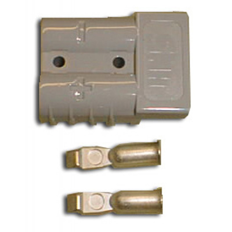Anderson Power Products SY6319  50 Amp Charger Plug and Contacts Gray (8.663-408.0)