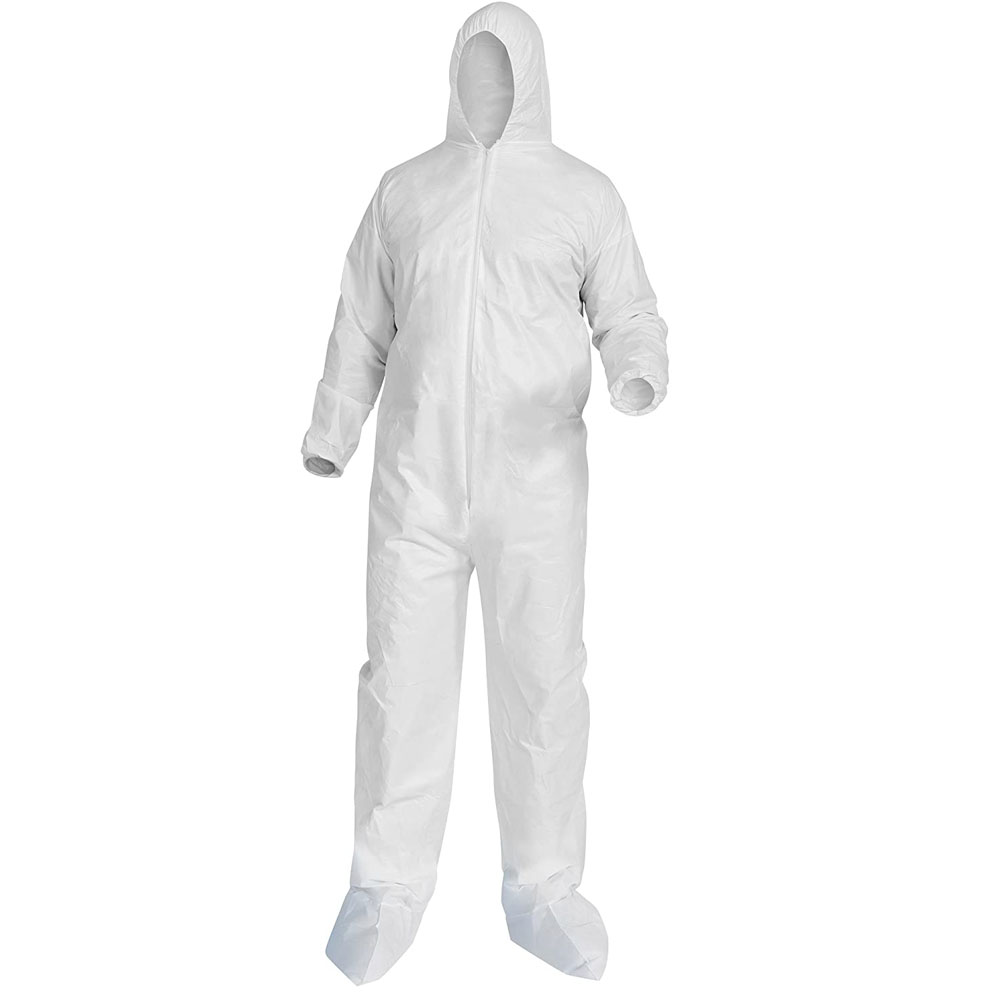 Karcher 8.697-155.0 Max Shield Complete Coveralls Hood w/ Elastic Shoes, Large (Backorder till May/June 2020)