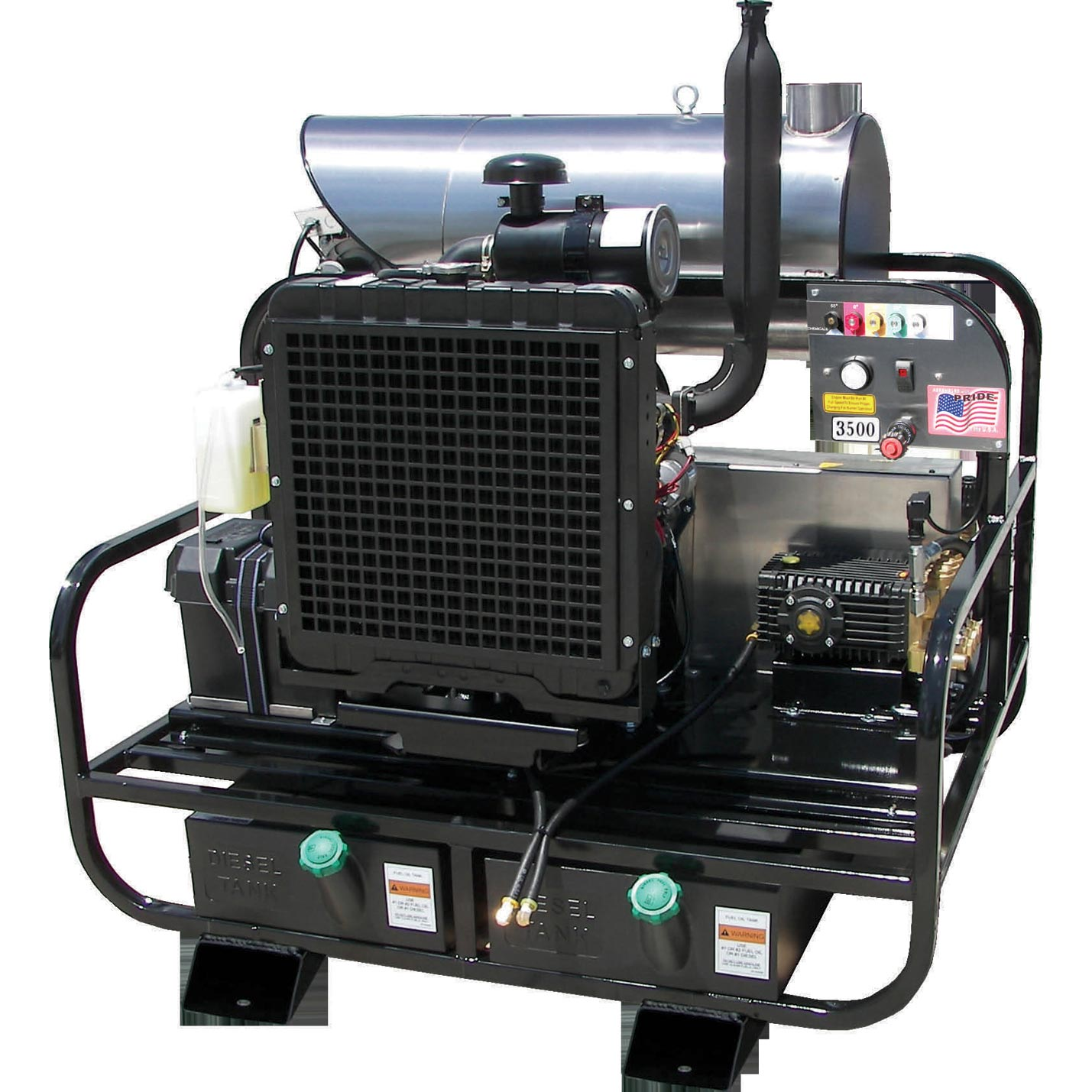 Pressure Pro 6012PRO-35KDG  Diesel Hot Water Skid 3500psi 5.5 gpm Kubota Engine Freight Included