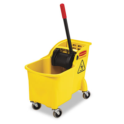 Rubbermaid RCP738000YEL: PROLITE MOP BUCKET/WRINGER COMBO, Yellow