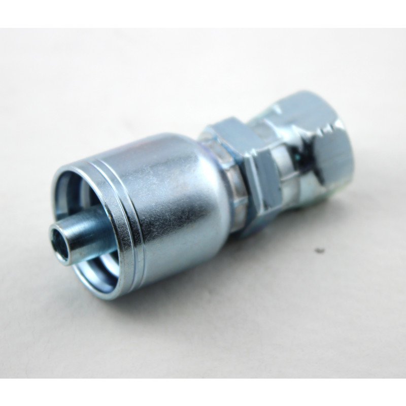 Hydralic Hose Crimp Swedge Fitting 1/4 in Fpt Swivel X 1/4 Barbed R1 Wire Hoses CS-FPX-04-04