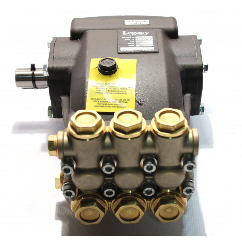 Shark Legacy Belt Drive High Pressure Pump GM6035R.3 5.6gpm 3500psi 13.5hp 1750rpm 24mm 8.751-245.0 Left Shaft
