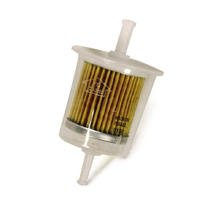 Clear Plastic Fuel Filter 1/4in. In/Out Barb Fittings  - 9.802-211.0  2-99031  341001 8.709-152.0