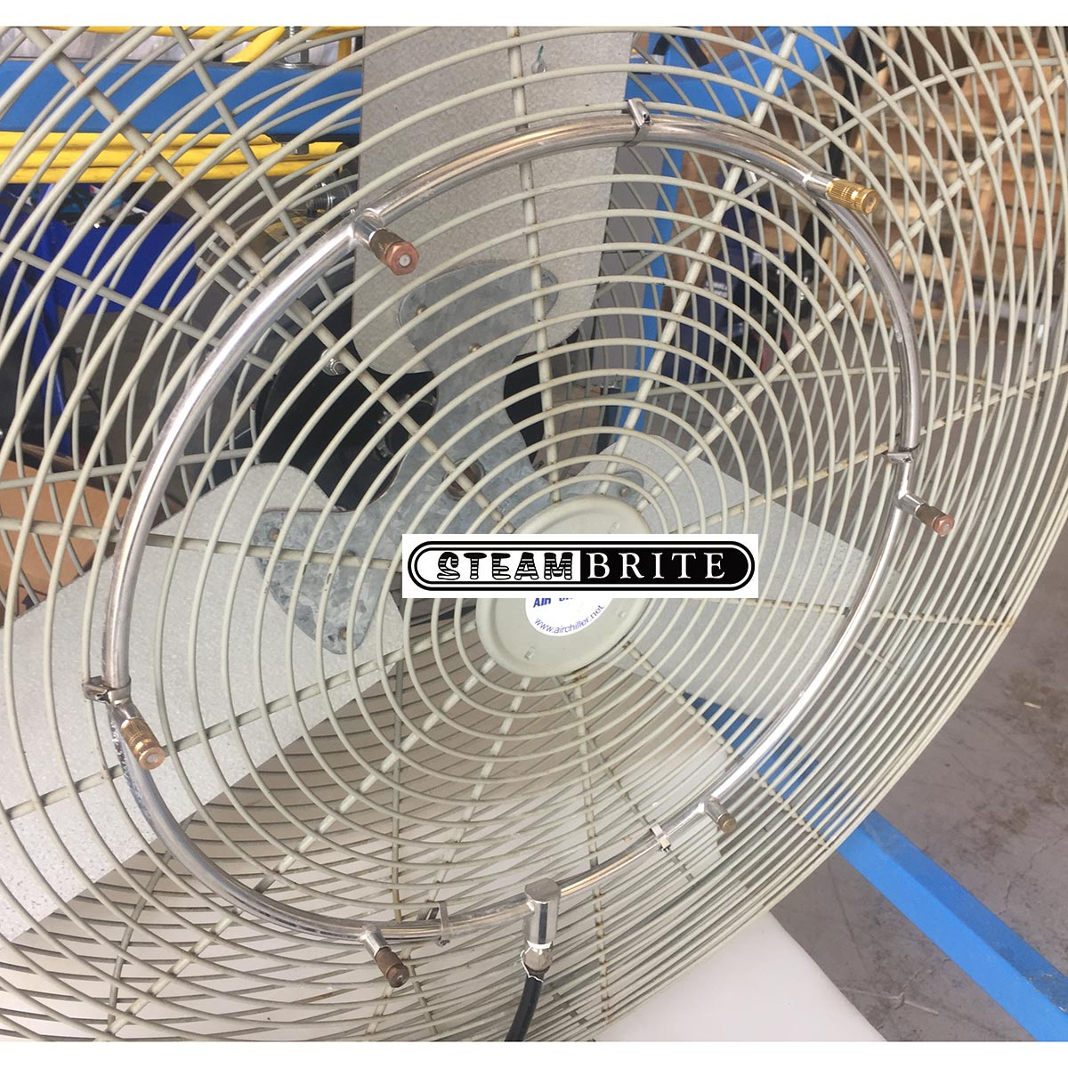 Air Chiller AC-612 Misting Fan 16 Inch Ring with 4 Nozzles, 2 Plugs, 1/4 inch Tubing Adapter