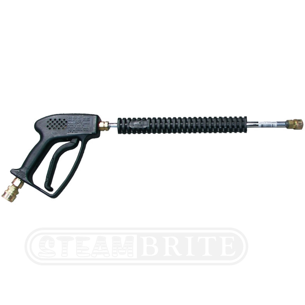 Pressure Pro AGU01221290C Washer Lance and Gun Combo 4060 psi - 10.5 GPM - 12in Alum + Couplers (3/8in QCS Inlet + 1/4in QCS Outlet)