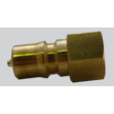 AH102B Portable 1/4 Inch Male Brass QD Quick Disconnect ONE Import with Stainless Poppet 86970800
