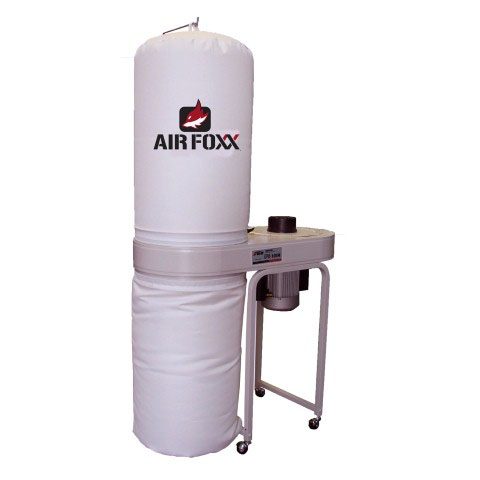 Air Foxx UFO101H2 Vertical Bag Dust Collector 2hp 1550cfm 65db 220volt
