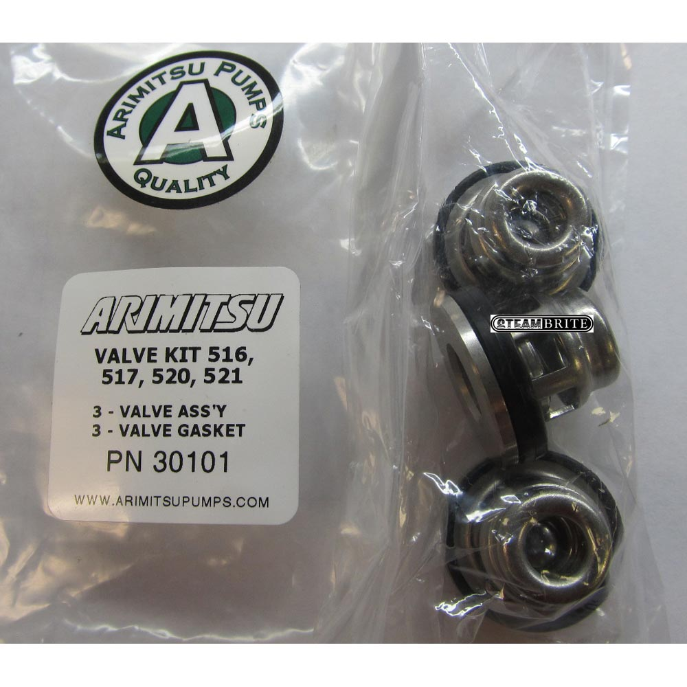 Arimitsu 30101 Valve Repair Kit fits 500 series all Stainless Steel 3 valves per kit 516 517 520 521