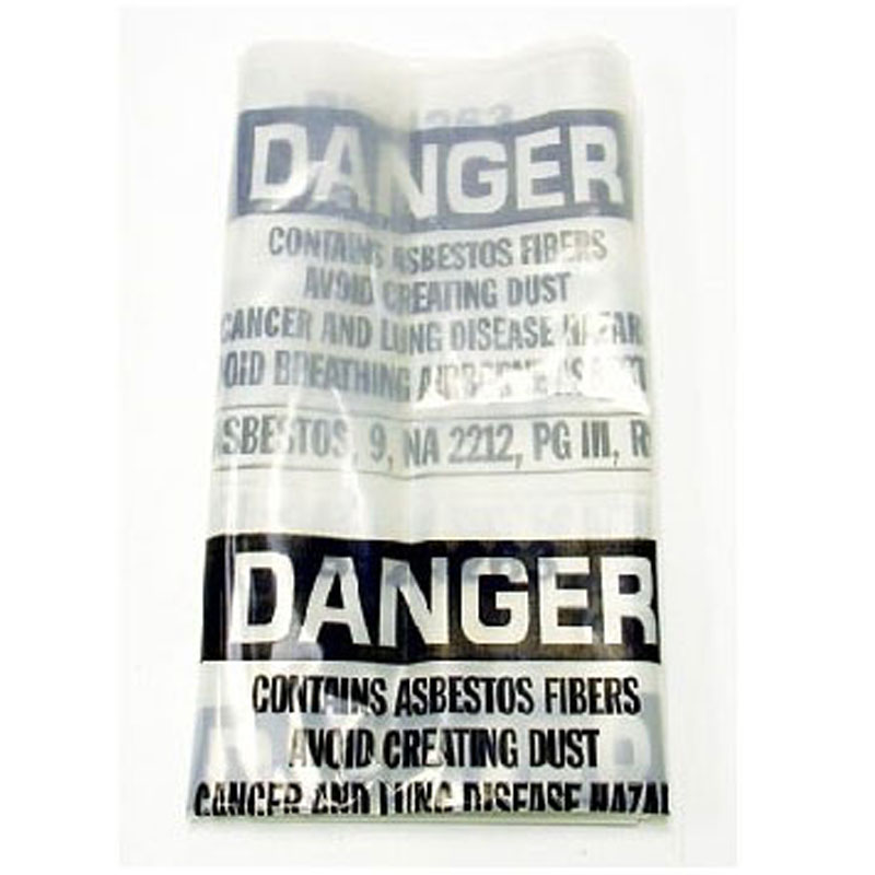 Pullman Holt B524263 Poly Bag Disposable 12-15Gal 6ML 30x37 Asbestos Warning (102/86 vac) 591213301