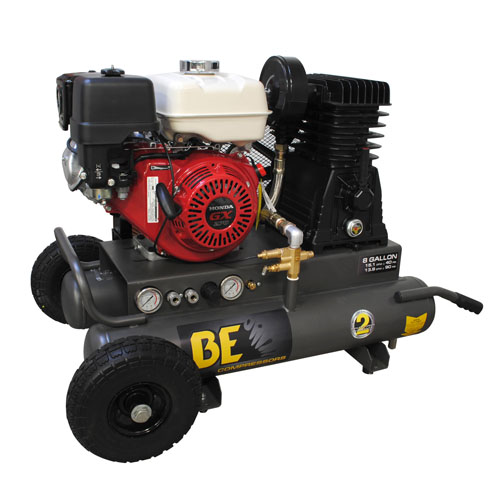BE Pressure AC908HB 8 Gallon Wheeled Gas Compressor 20.5cfm 100psi