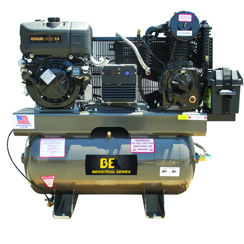 BE Pressure AC1030K5000 Truckmounted 30 Gallon Diesel Compressor and Generator Combo Unit