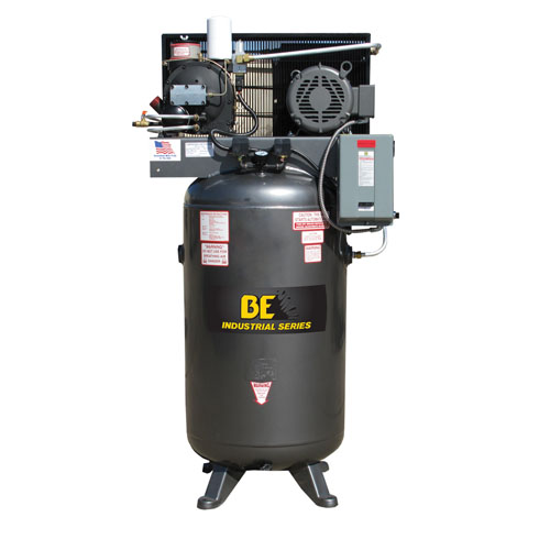 BE Pressure AC1080S 80 Gallon Open Rotary Screw Air Compressor 10hp 40cfm 125psi