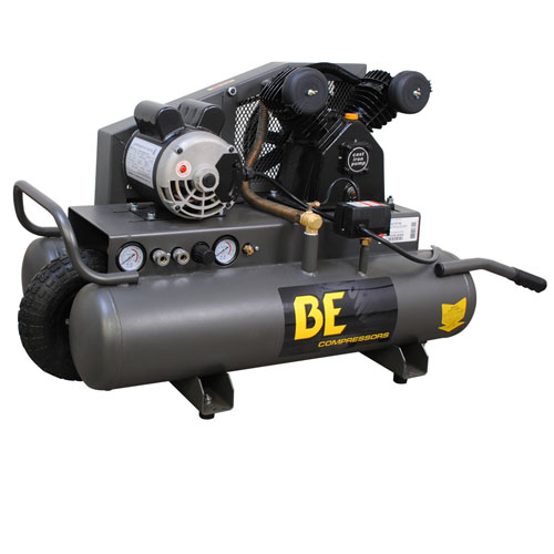 BE Pressure AC1511B 8 Gallon Wheeled Electric Air Compressor 1.5hp 8.1cfm 40psi