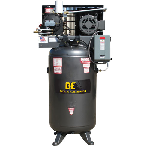 BE Pressure AC7580S 80 Gallon Open Rotary Screw Air Compressor 7.5hp 29cfm 125psi