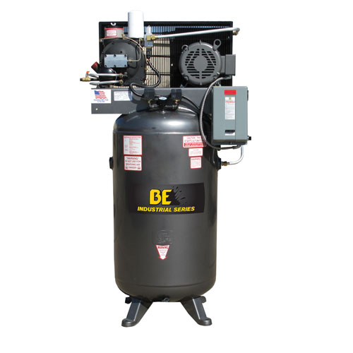 BE Pressure AC7580S3 80 Gallon Open Rotary Screw Air Compressor 7.5hp 29cfm 125psi